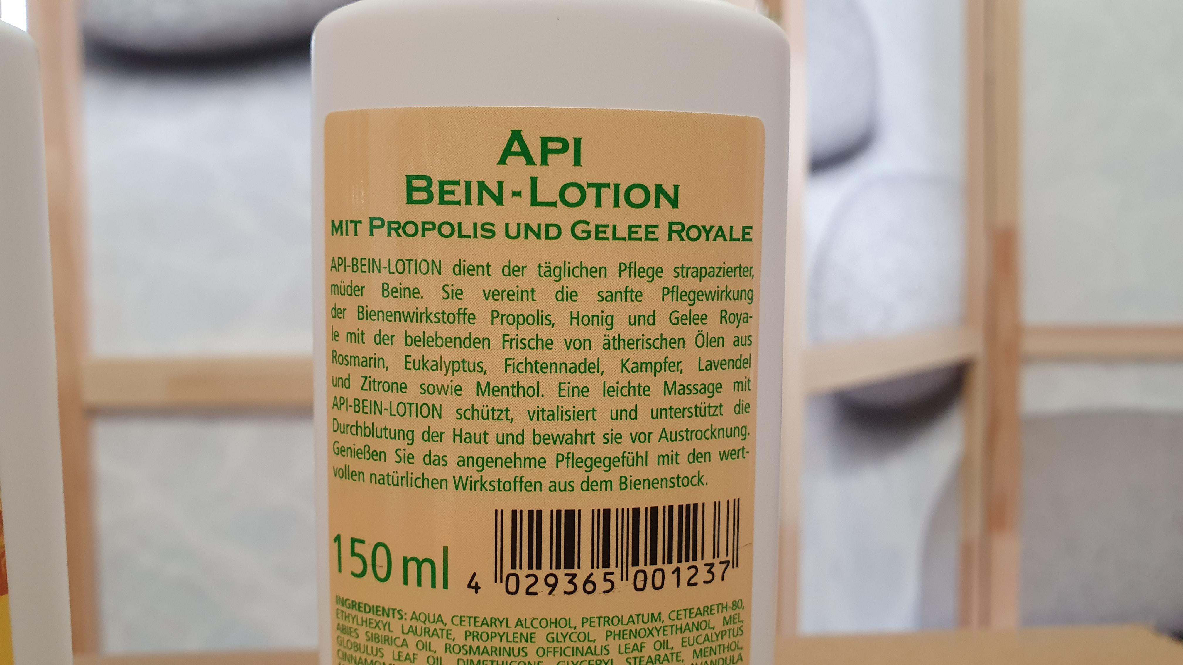 Bein-Lotion mit Propolis und Gelee Royale