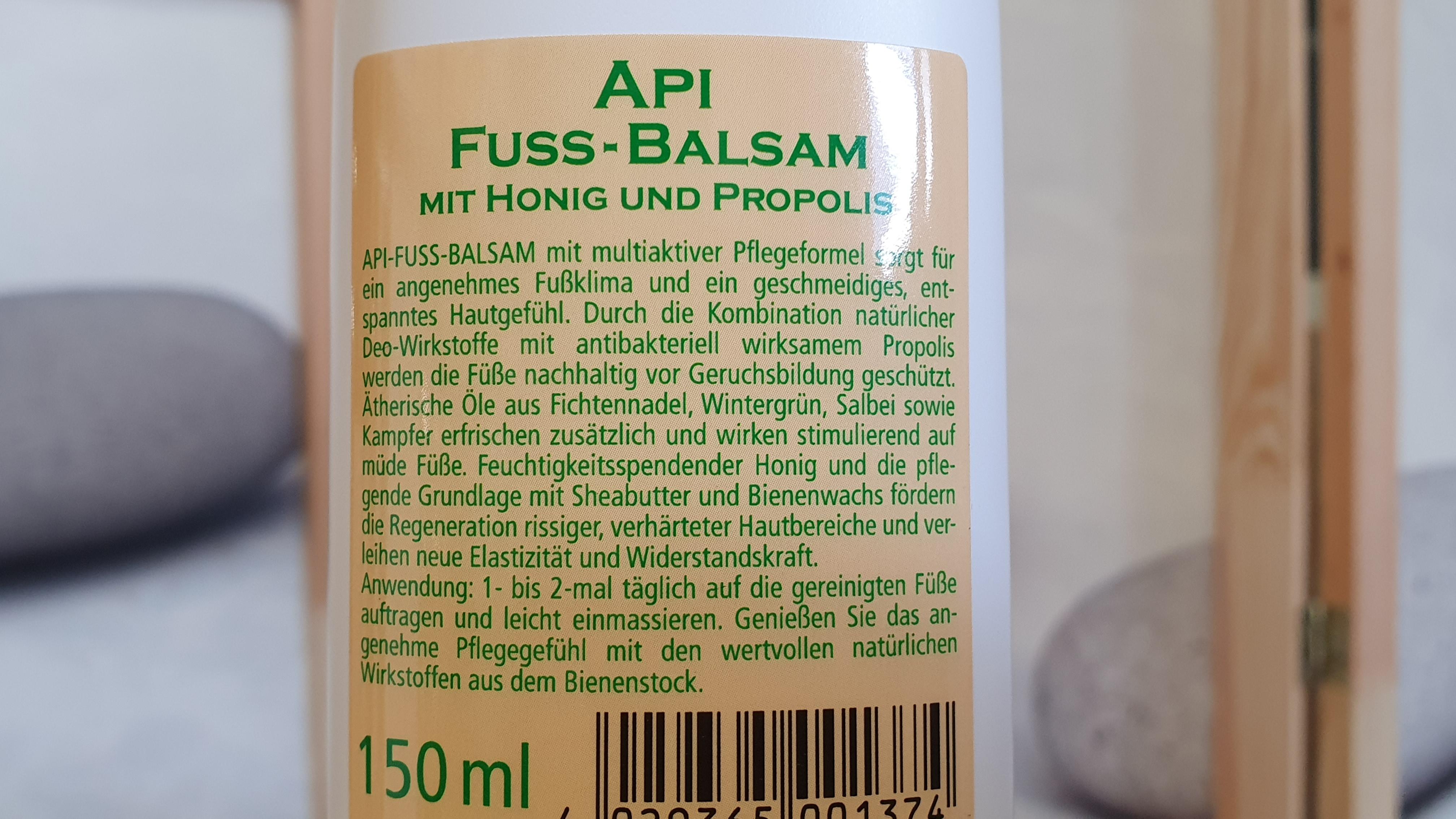 Fuß Balsam mit Honig und Propolis
