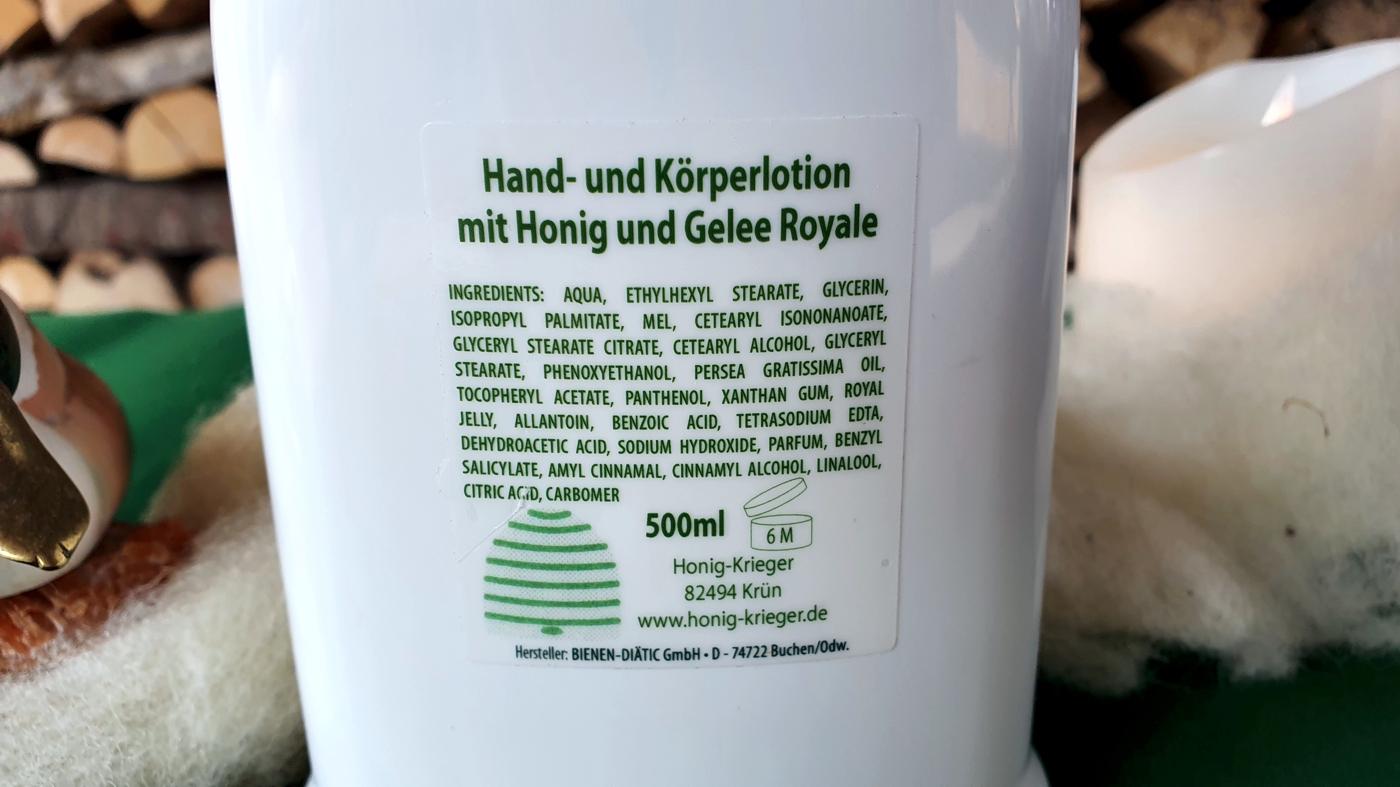Hand- und Körperlotion mit Honig und Gelée Royale